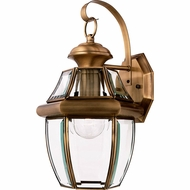 Quoizel NY8316A Newbury Antique Brass Outdoor 8  Lamp Sconce