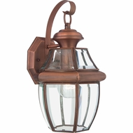 Quoizel NY8316AC Newbury Aged Copper Exterior 8  Wall Sconce Lighting