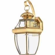 Quoizel NY8316B Newbury Polished Brass Outdoor 8  Wall Light Fixture