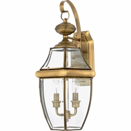 Quoizel NY8317A Newbury Antique Brass Outdoor 10.5  Wall Mounted Lamp