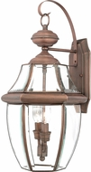 Quoizel NY8317AC Newbury Aged Copper Outdoor 10.5 Lighting Sconce
