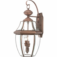Quoizel NY8317AC Newbury Aged Copper Exterior 10.5  Wall Light Sconce