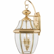 Quoizel NY8317B Newbury Polished Brass Outdoor 10.5  Wall Lighting Fixture