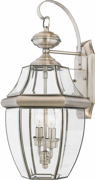 Quoizel NY8317P Newbury Pewter Outdoor 10.5  Wall Sconce Lighting