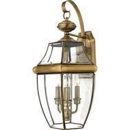 Quoizel NY8318A Newbury Antique Brass Outdoor 12.25  Wall Lamp