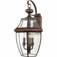 Quoizel NY8318AC Newbury Aged Copper Exterior 12.25  Wall Lighting