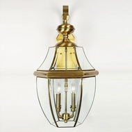 Quoizel NY8339A Newbury Antique Brass Outdoor 16 Wall Sconce Lighting
