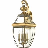 Quoizel NY8339B Newbury Polished Brass Outdoor 16 Lighting Wall Sconce