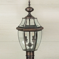 Quoizel NY9042AC Newbury Aged Copper Outdoor 11  Post Lamp