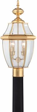 Quoizel NY9042B Newbury Polished Brass Outdoor 11  Post Light