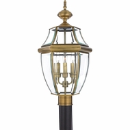 Quoizel NY9043A Newbury Antique Brass Exterior 12.5  Post Lighting Fixture