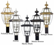 Quoizel NY9043A Newbury Large Traditional 23 Inch Tall Outdoor Post Lamp In Multiple Finishes
