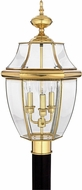 Quoizel NY9043B Newbury Polished Brass Outdoor 12.5  Post Light Fixture
