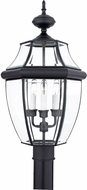 Quoizel NY9043K Newbury Mystic Black Outdoor 12.5  Pole Lighting Fixture