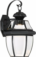 Quoizel NYCL8409K Newbury Clear Mystic Black LED Outdoor 8.25 Wall Lighting