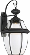 Quoizel NYCL8411K Newbury Clear Mystic Black LED Outdoor 11 Light Sconce