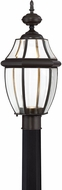 Quoizel NYCL9011Z Newbury Clear Medici Bronze LED Outdoor Post Lighting Fixture