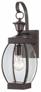 Quoizel OAS8406Z Oasis Traditional Small 5.5 Inch Wide Bronze Lantern Outdoor Wall Sconce