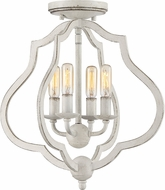 Quoizel OKF1715AWH O'Keefe Antique White Ceiling Light Fixture