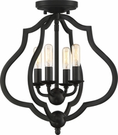 Quoizel OKF1715MBK O'Keefe Matte Black Flush Lighting