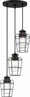 Quoizel OLN2703EK Olson Contemporary Earth Black Multi Pendant Lighting