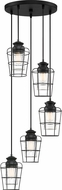 Quoizel OLN2705EK Olson Modern Earth Black Multi Pendant Light