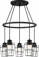 Quoizel OLN5005EK Olson Modern Earth Black Multi Pendant Lamp