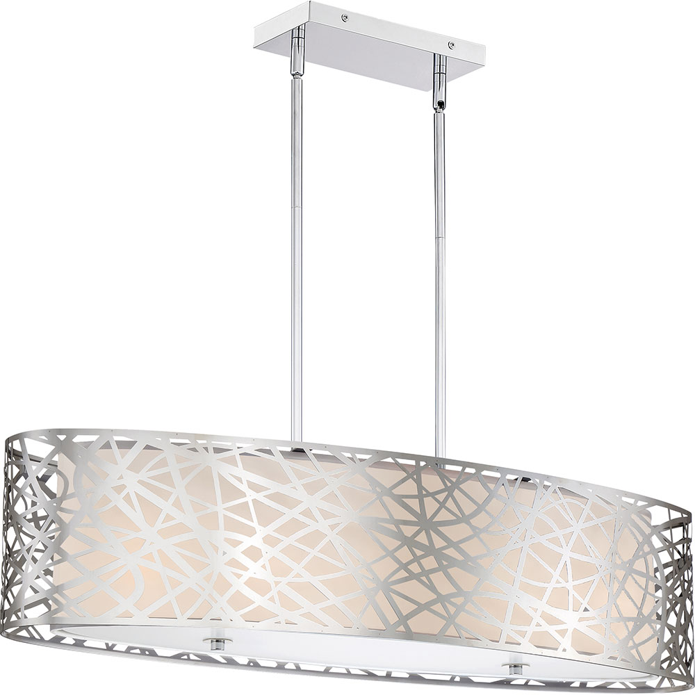 Quoizel Pcae536c Platinum Collection Abode Modern Polished Chrome Island Lighting