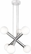 Quoizel PCAF5006C Platinum Collection Affinity Contemporary Polished Chrome LED Mini Chandelier Lamp