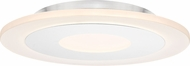 Quoizel PCAW1615W Aglow Contemporary White Lustre LED Ceiling Light