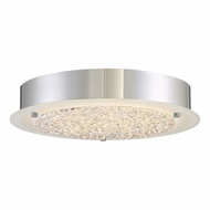 Quoizel PCBZ1612C Platinum Collection Blaze Contemporary Polished Chrome LED 12.25  Flush Ceiling Light Fixture