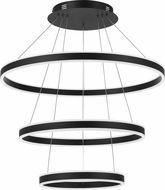 Quoizel PCCA2831EK Cadence Modern Earth Black LED Pendant Lighting Fixture