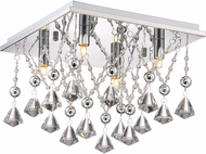 Quoizel PCCD1613C Platinum Collection Crystal Drape Polished Chrome Xenon 12.5  Ceiling Light