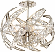 Quoizel PCCN1718PK Crescent Modern Polished Nickel 18  Ceiling Lighting Fixture