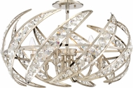 Quoizel PCCN1724PK Crescent Modern Polished Nickel 24.5  Ceiling Light Fixture