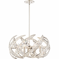 Quoizel PCCN2824PK Platinum Collection Crescent Polished Nickel 24.5  Ceiling Light Pendant