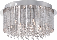 Quoizel PCCT1616C Platinum Collection Countess Polished Chrome Xenon Flush Mount Lighting Fixture