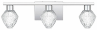 Quoizel PCCY8623C Chrysalis Modern Polished Chrome LED 3-Light Bathroom Vanity Light