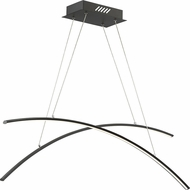 Quoizel PCFA239EK Platinum Collection Fanfare Modern Earth Black LED Kitchen Island Lighting