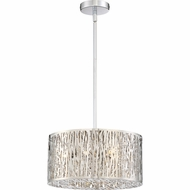 Quoizel PCGO1816C Platinum Collection Grotto Polished Chrome Xenon 16  Drum Ceiling Pendant Light
