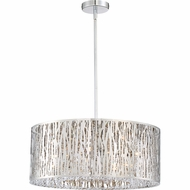 Quoizel PCGO1822C Platinum Collection Grotto Polished Chrome Xenon 21.5  Drum Drop Ceiling Light Fixture