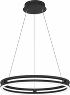 Quoizel PCGVS2820MBK Graves Contemporary Matte Black LED 20  Hanging Pendant Light