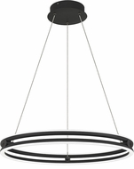 Quoizel PCGVS2824MBK Graves Contemporary Matte Black LED 24  Pendant Hanging Light