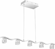 Quoizel PCHL636C Clear Hollow Polished Chrome LED Kitchen Island Light