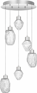 Quoizel PCHS2816C Hailstone Contemporary Polished Chrome LED Multi Hanging Pendant Lighting