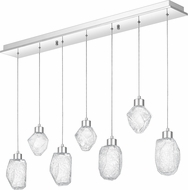 Quoizel PCHS745C Hailstone Modern Polished Chrome LED Multi Hanging Pendant Light
