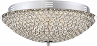 Quoizel PCIN1716C Platinum Collection Infinity Polished Chrome LED Flush Lighting