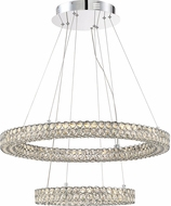 Quoizel PCIN1828C Platinum Collection Infinity Polished Chrome LED Drop Ceiling Lighting