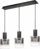 Quoizel PCKR336EK Kilmer Contemporary Earth Black LED Multi Pendant Hanging Light