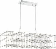 Quoizel PCLY140C Platinum Collection Labyrinth Contemporary Polished Chrome LED Kitchen Island Light Fixture